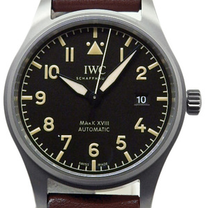 Unused Exhibits! Iwc Pilot Watch Mark Xviii 18 Heritage Iw 327006 Titanium Men's Automatic Black Case