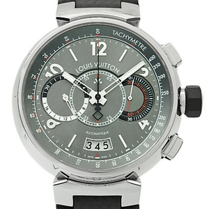 Louis Vuitton Tambour Vo Wires Q102n Chronograph 888 Limited Edition D Buckle Men's Automatic Gray Dial