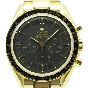 K18yg Omega Speedmaster Professional Chronograph 3195-50 Men's Automatic Black Case
