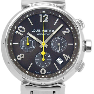 Louis Vuitton Tambour Q 1121 Chronograph Men's Automatic Brown Dial