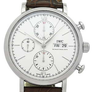 Iwc Port Finino Portofino Chronograph Iw391007 Men's Automatic Silver Dial Face