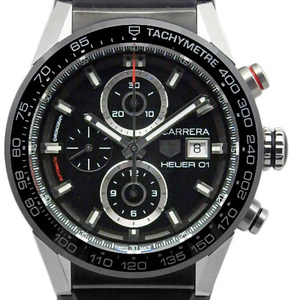 Unused Exhibits! Tag Heuer Carrera Cal. Hoyer 01 Chronograph Car201z.ft6046 Men's Automa Backside Scale Black Case