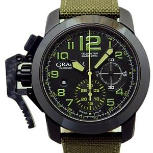 Genuine Domestic Regular Product Graham Chrono Fighter Oversize Amazonia Green 2 Ccau Men's Automatic Black / Dial