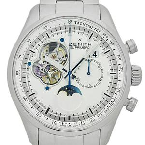 Domestic Regular Zenith Chrono Master El Primero Rock Moon Phase Grand Date 03.2160.4047 Chronograph Men's Automa Back Scale Silver Dial