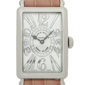 Domestic Regular Goods K18wg Frank Muller Long Island Relief 902qzrelv-rcd1r Circle Diamonds Women's Quartz Silver Dial Plate