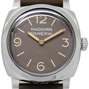 Unused Items Panerai Radio Meal 1940 3days 3 Days Achcio Pam00662 Men's S Number Back Scaled Hand Winding Brown Dial