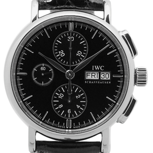 Iwc Port Finino Portofino Chronograph Iw 378303 Men's Automatic Black Letterboard