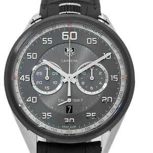 Domestic Regular Goods Tag Heuer Carrera Cal.1887 Chronograph Car 2 C 12 Fc 6327 Men's Ss / Ti Back Scale Automatic Gray Dial