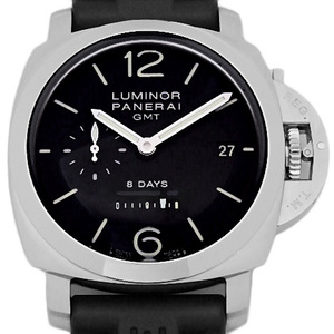 Panerai Luminol 44 8 Days Gmt Pam00233 Back Scale Men's K Number Hand Winding Black Character Board