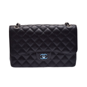 Second-hand Chanel Matrasse Chain Shoulder Bag Caviar Skin Black Sv Metal Fittings Gala Unused ◇