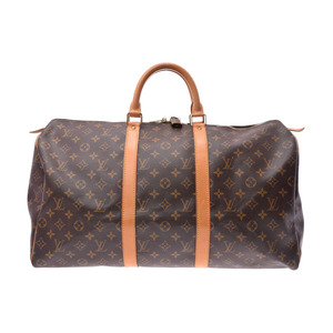 Used Louis Vuitton Monogram Keypol 50 M41426 Boston Bag Men's Women's ◇