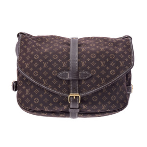 Used Louis Vuitton Monogram Minilan Saumur 30 Ebene M95227 Ladies' Bag ◇