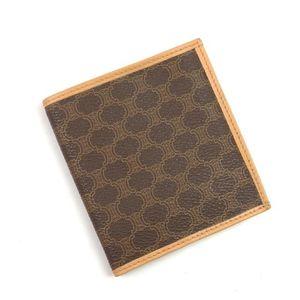 Celine Celine Wallet Folded Women's Macadam Pvc Leather Italian Made In Brown