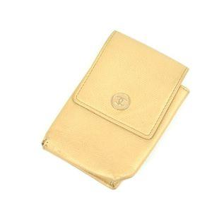 Chanel Cigarette Case Glove Compartment Ladies' Coco Mark Italian Made Beige Brand Miscellaneous Goods