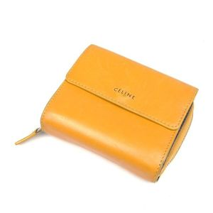 Celine Fold Compact Wallet Purse Ladies Leather Coin Italian Made Beige