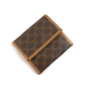 Celine Coin Purses Women's Macadam Leather Brown Brand Accessories