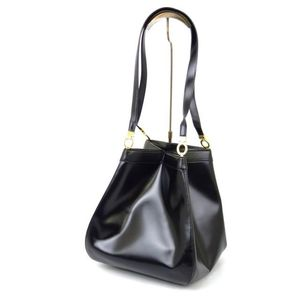 Christian Dior Shoulder Bag Ladies Leather Genuine Black Ladies'