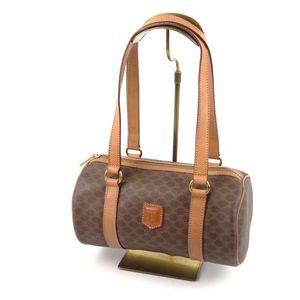 Celine Handbag Mini Boston Women's Madame Beige Bag Italian Brown