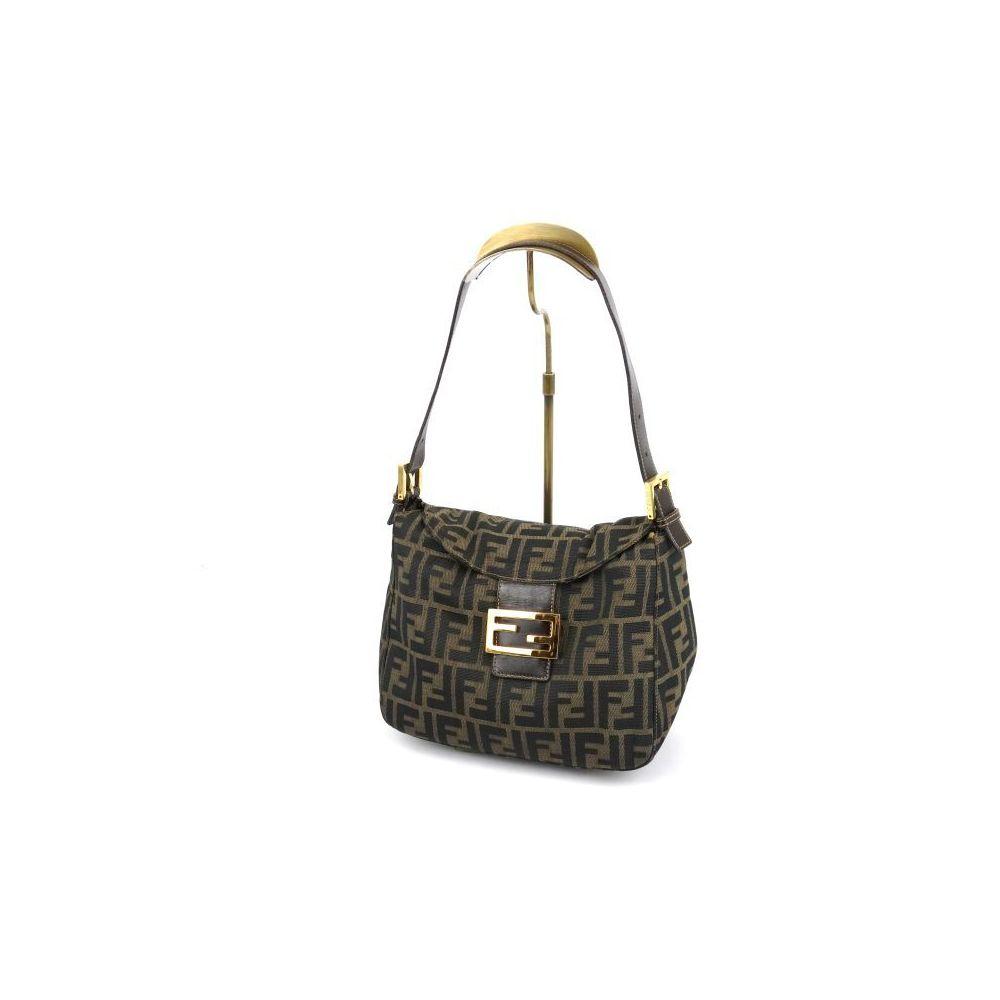 3eb8b6b9a34b ... uk fendi fendi mumma bucket handbag zucca pattern canvas leather gold  hardware khaki brown italian ladies