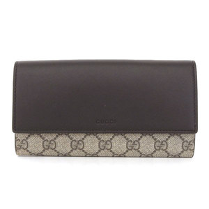 cea002aa3dcf Gucci Gucci Gg Canvas Leather Double Fold Wallet Black 410100