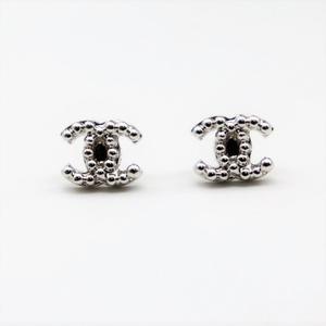 Chanel Alloy Stud Earrings Silver Cocomark