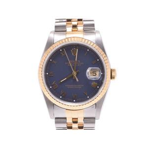 中古 ロレックス デイトジャスト 16233 YG/SS L番 ネイビー文字盤 腕時計 メンズ ROLEX◇