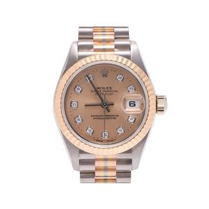 中古 ロレックス デイトジャスト69179G BIC YG/SS W番 シャンパン文字盤 10Pダイヤ レディース 腕時計 ROLEX◇