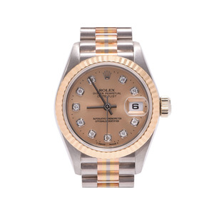 Used Rolex Datejust 69179g Bic Yg / Ss W Champagne Dial 10p Diamond Ladies Watch ◇