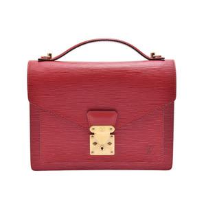 ルイ・ヴィトン(Louis Vuitton) 中古 ルイヴィトン エピ モンソー 赤 ストラップ付 M52127 レディース バッグ LOUIS VUITTON◇