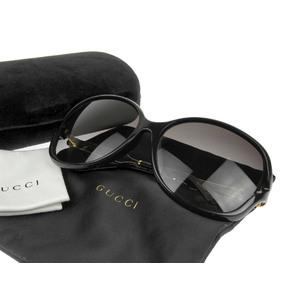 グッチ(Gucci) GUCCI グッチ オーバルフレーム インターロッキング サングラス 黒 ブラック 金 ゴールド 62□15 130 GG0076SK     20180731