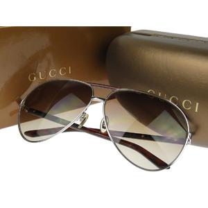 グッチ(Gucci) GUCCI グッチ シェリーライン ティアドロップ サングラス アイウェア 茶色 ブラウン 63□10 135     20180731