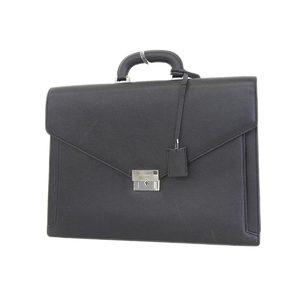 バーバリー(Burberry) BURBERRY バーバリー レザー ブリーフケース 書類鞄 カバンバッグ 黒 ブラック     20180731