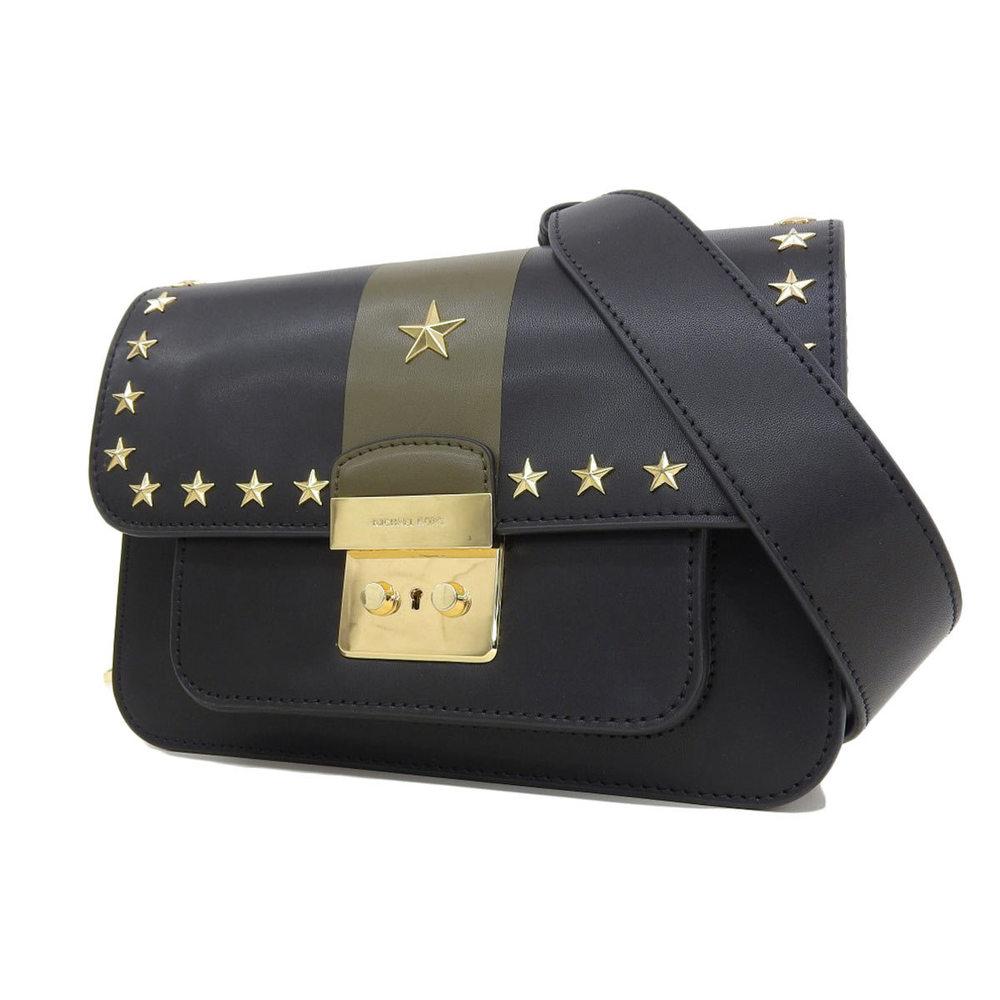 2c03835540d8 ... cheapest michael kors michaelkors michael course star studs leather  shoulder bag clutch black gold 20180802 84077