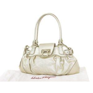 Salvatore Ferragamo Gangtini 2way Handbag Shoulder Gold 20180731