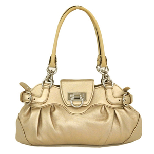 Salvatore Ferragamo Ferragamo Marissa Gancini Handbag Champagne Gold Shoulder Box