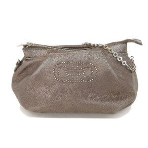 Salvatore Ferragamo Outer Ferragamo Salvatore Gancini Chain Leather Handbag Party Bag Makeup Pouch 2way