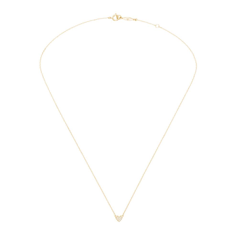アーカー(AHKAH) ハートパヴェ K18イエローゴールド(K18YG) ダイヤモンド レディース ファイン ネックレス カラット/0.05 (イエローゴールド(YG))