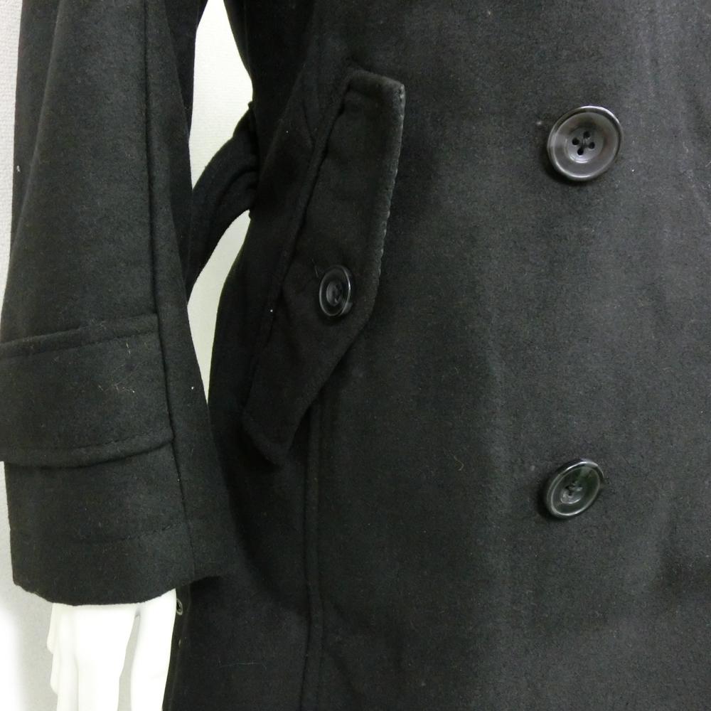 アトリエ・サブ(Atelier Sab) MEN レディース ピーコート (ブラック)