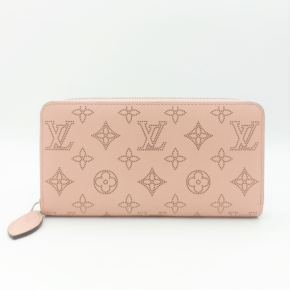 size 40 28494 7b273 Louis Vuitton Mahina Zippy Wallet M61868 Women's Calf Leather Card Wallet  Magnolia | elady.com