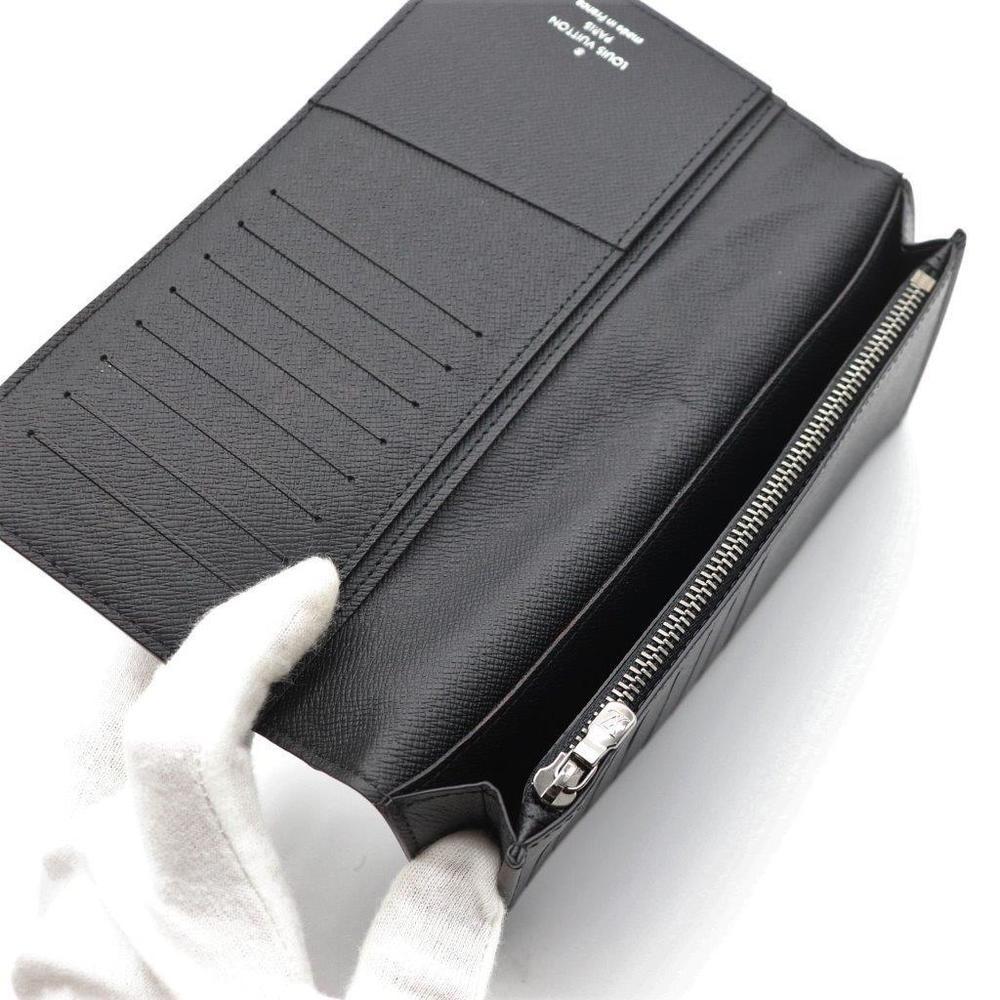 ルイ・ヴィトン(Louis Vuitton) モノグラム・エクリプス ポルトフォイユ ブラザ M61697 メンズ コーティングキャンバス 長財布(二つ折り) ブラック