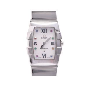 中古 オメガ コンステレーション クアドレラ 1584.79 10P色石 シェル文字盤 SS クオール レディース 腕時計 OMEGA◇