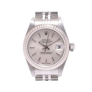 中古 ロレックス デイトジャスト79174 SS Y番 シルバー文字盤 箱 ギャラ 自動巻 レディース 腕時計 ROLEX◇
