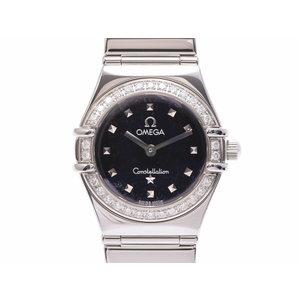 中古 オメガ コンステレーション 1465.51 SS 黒文字盤 ベゼルダイヤ クオーツ レディース 腕時計 OMEGA◇
