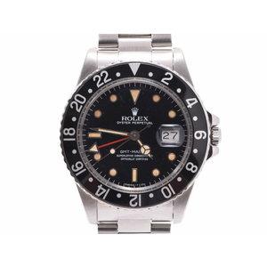 中古 ロレックス GMTマスター 16750 オールトリチウム セミアンティーク SS 自動巻 腕時計 メンズ ROLEX◇