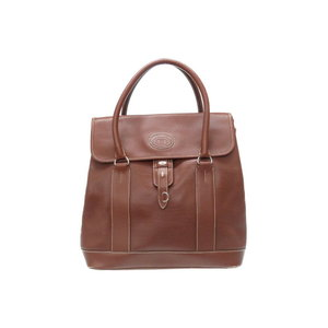 Gucci Old Leather Tote Hand Bag Brown 0386 Unisex