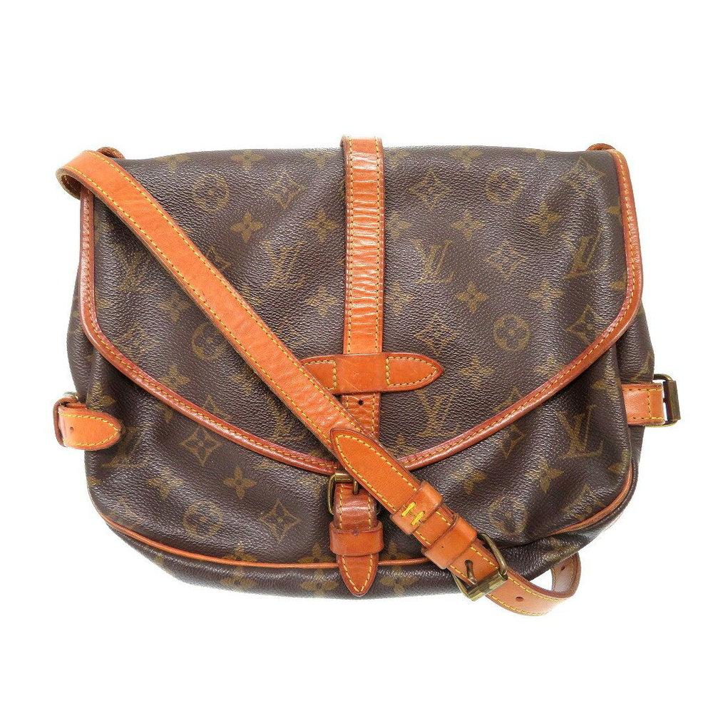 Louis Vuitton Monogram Saumur 30 M42256 Shoulder Bag Brown 0046 Women s 5e39d65ec