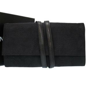 Chanel New Travel Line Nylon Black Jewelry Case Accessory 0218