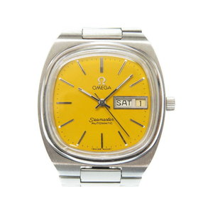 Omega Seamaster Tv Screen Automatic Winding Watch Yellow Antique 0609 Men's