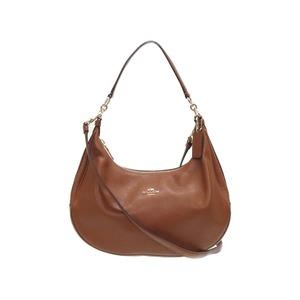 Coach 2way Leather Shoulder Bag Brown / Gold 0514
