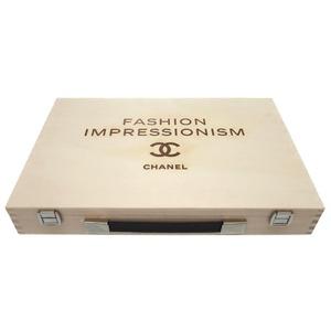 Chanel Cruise Handbag Wooden Box Wood Brown As New Well 0349